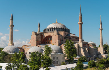 Hagia Sophia, ancient byzantine temple in Istanbul
