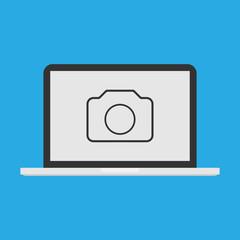 Screenshot icon. Laptop icon