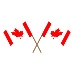 Pair of flags of Canada