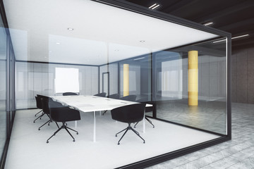 Modern glass conference room