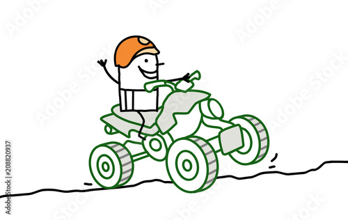 cartoon hammy man on quad stock image and royalty free vector files
