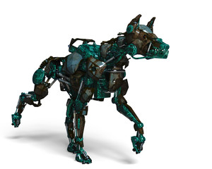 green guard dog robot is a security system