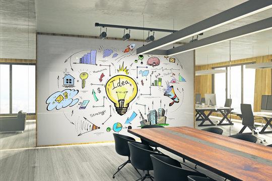 Idea and finance concept