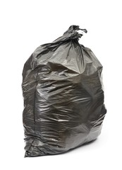 Black trash bag