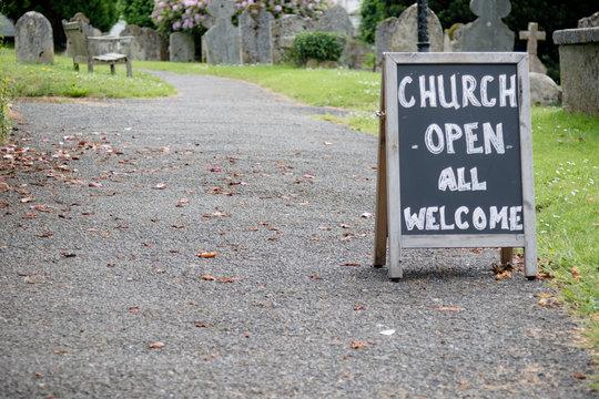 A frame for an open church