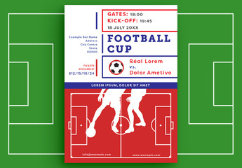 Football/Soccer-Themed Event Poster Layout