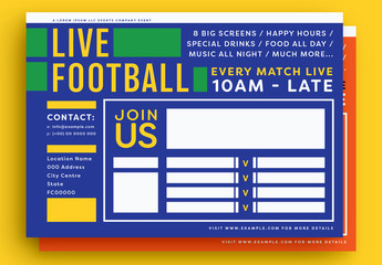 Football/Soccer-Themed Event Poster Layout Set