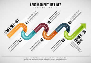 Zig-Zag Arrow Infographic