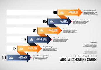 Cascading Arrow Stairs Infographic