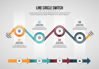 Line Circle Switch Infographic