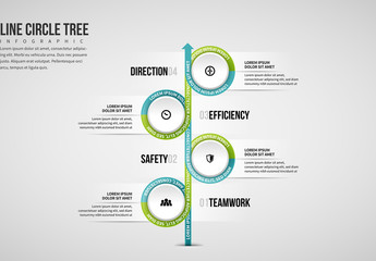 Circle Tree Arrow Infographic