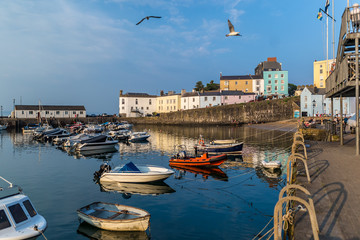 Summer evening in Tenby, Wales