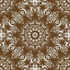 Seamless vector pattern. Geometric floral ornament. For Interior decoration, wallpaper, presentation, fashion design, print