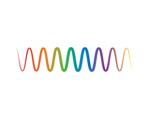 Sound wave vector icon
