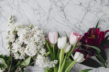 Lilacs Lilies and Tulips Bouquet