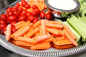 Carrots, Tomatoes Celery ad Dip