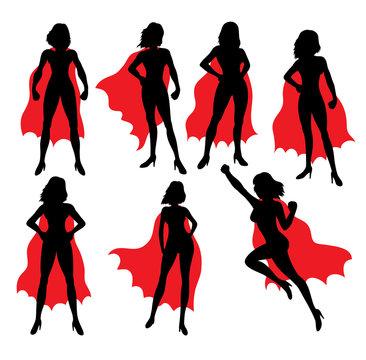 Super Lady Silhouettes, art vector design
