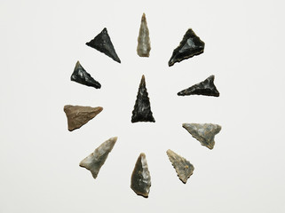 Native American artifacts - Hamilton triangles from the Woodland culture in the Tennessee Valley area - Found in Elk River watershed