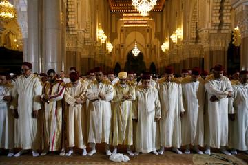 Faithful pray during Laylat al-Qadr in Casablanca