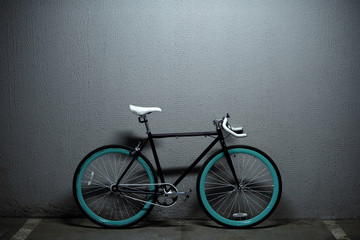 Cool fixed gear bike in garage