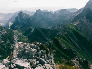 Mountains of Switzerland - Hiking Trail Through Appenzell's Alpstein Massif