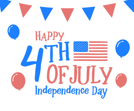 4th July, happy independence day in United States of America, USA. Festive Vector illustration design background