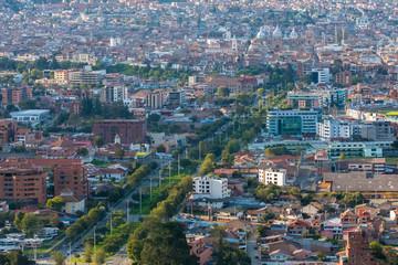 Vincente Solano Avenue aerial view Cuenca