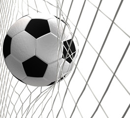 soccer ball 3d rendering