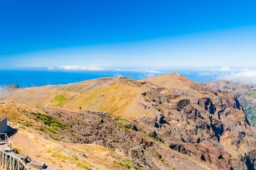 Pico do Arieiro, the highest point of the island. Madeira. Portugal