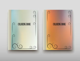 Leaflet cover presentation abstract geometric background, layout in A4 set technology brochure flyer design coloring template vector shadow