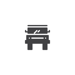 Car vector icon. filled flat sign for mobile concept and web design. Off road truck simple solid icon. Symbol, logo illustration. Pixel perfect vector graphics