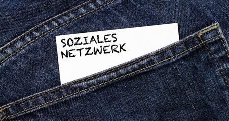 Soziales Netzwerk Visitenkartenaufdruck