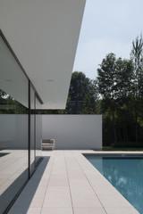 Minimalist terrace and swimming pool