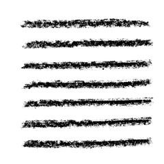 Brush stroke set. Chalk. Texture.
