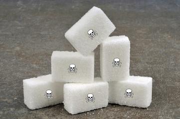 Pierres de sucre avec des têtes de mort