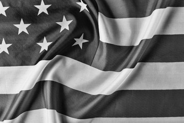 black and white. USA, flag, background. close up. concept patriotism, independence day