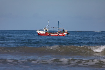 Small trawler boat fishing for crab on the west coast of Ireland