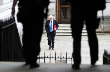 Britain's Foreign Secretary Boris Johnson arrives in Downing Street in London