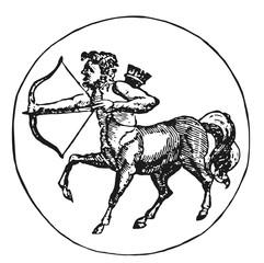 zodiac sign Sagittarius #vector #isolated - Sternzeichen Schütze