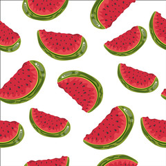 beautiful seamless white background of watermelon skewers