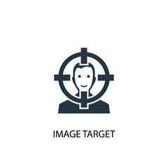 Image Target icon. Simple element illustration