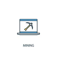 Mining Line icon. Simple element illustration