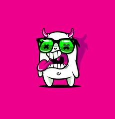 Bubble Monster Mascot Smiling