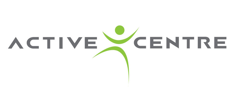 Active Fitness Yoga Sports Health Exercise Green Grey Logo