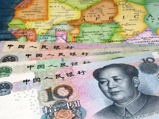 Yuan on the map of Africa. Chinese investment in African economy