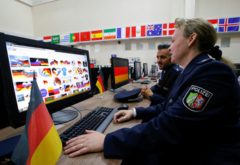 Law enforcement officers take part in the opening of the International Police Cooperation Centre in Domodedovo