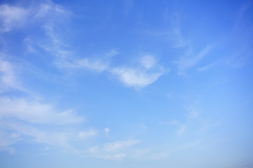 Beautiful Cirrus clouds and blue sky for background
