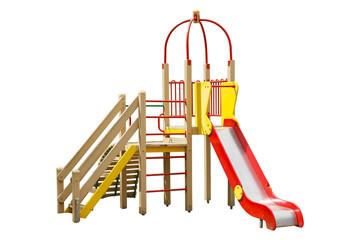 children's slide isolated on white background
