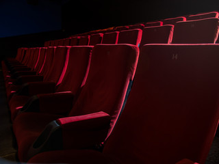 Theater seats in a row