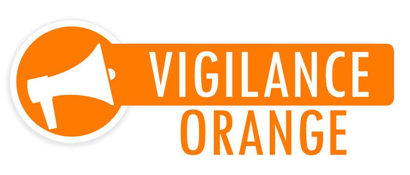 Etiquette Vigilance Orange